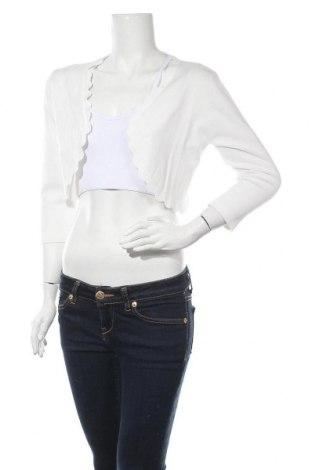 Γυναικεία ζακέτα Morgan De Toi, Μέγεθος L, Χρώμα Λευκό, 78% βισκόζη, 22% πολυαμίδη, Τιμή 20,88€