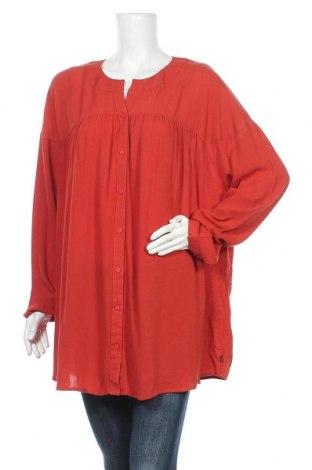 Γυναικείο πουκάμισο Adia, Μέγεθος XL, Χρώμα Κόκκινο, Βισκόζη, Τιμή 17,78€