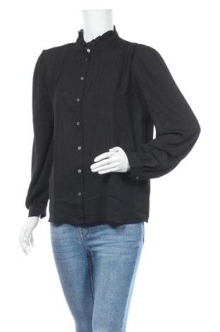 Γυναικείο πουκάμισο Banana Republic, Μέγεθος L, Χρώμα Μαύρο, Πολυεστέρας, Τιμή 11,97€