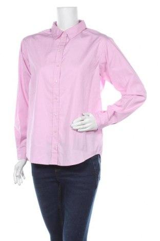 Дамска риза Boss Orange, Размер S, Цвят Розов, Памук, Цена 52,02лв.