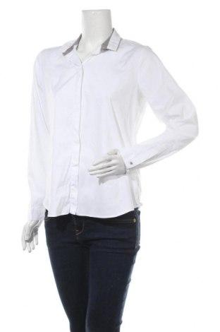 Дамска риза Eterna, Размер M, Цвят Бял, 75% памук, 21% полиамид, 4% еластан, Цена 14,28лв.