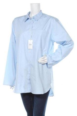 Γυναικείο πουκάμισο Filippa K, Μέγεθος L, Χρώμα Μπλέ, 96% βαμβάκι, 4% ελαστάνη, Τιμή 61,47€