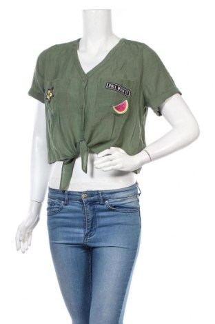 Γυναικείο πουκάμισο H&M Divided, Μέγεθος L, Χρώμα Πράσινο, 65% βισκόζη, 35% πολυεστέρας, Τιμή 10,67€
