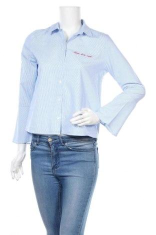 Γυναικείο πουκάμισο H&M Divided, Μέγεθος M, Χρώμα Μπλέ, Βαμβάκι, Τιμή 10,67€