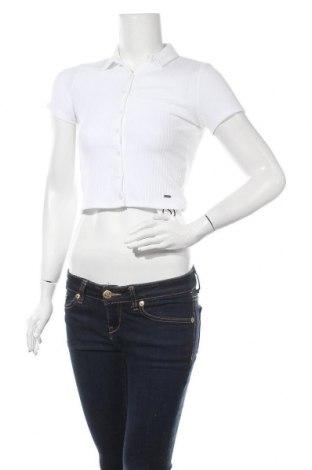 Γυναικείο πουκάμισο Hollister, Μέγεθος S, Χρώμα Λευκό, 95% πολυεστέρας, 5% ελαστάνη, Τιμή 14,07€