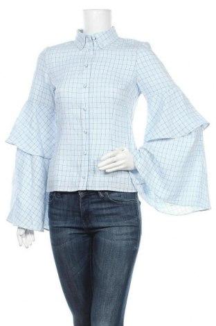 Γυναικείο πουκάμισο Lost Ink, Μέγεθος S, Χρώμα Μπλέ, 68% βισκόζη, 20% πολυαμίδη, 12% πολυεστέρας, Τιμή 20,10€