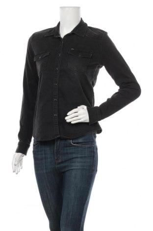 Дамска риза Ltb, Размер M, Цвят Черен, 98% памук, 2% еластан, Цена 39,00лв.