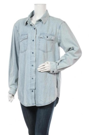 Дамска риза Missguided, Размер M, Цвят Син, Памук, Цена 31,50лв.