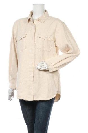 Дамска риза Missguided, Размер S, Цвят Бежов, Памук, Цена 32,34лв.