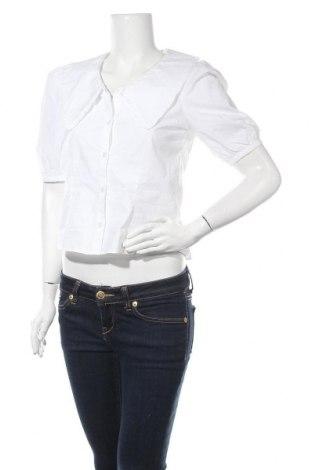Дамска риза Monki, Размер S, Цвят Бял, Памук, Цена 31,50лв.
