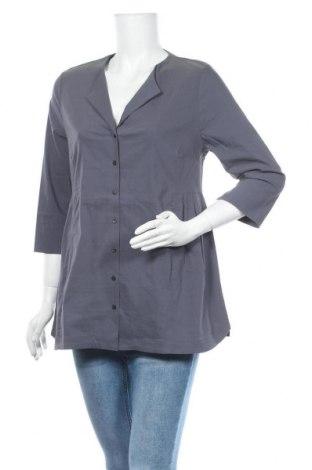 Дамска риза Myrine, Размер M, Цвят Сив, 73% памук, 23% полиамид, 4% еластан, Цена 34,50лв.