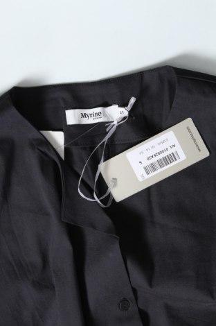 Дамска риза Myrine, Размер S, Цвят Сив, Цена 13,34лв.