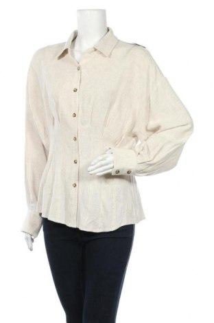 Дамска риза Nly Trend, Размер L, Цвят Бежов, 70% лен, 30% вискоза, Цена 39,00лв.