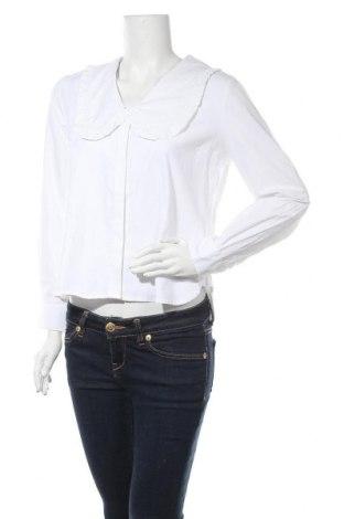 Дамска риза Object, Размер L, Цвят Бял, 50% памук, 50% полиестер, Цена 26,07лв.