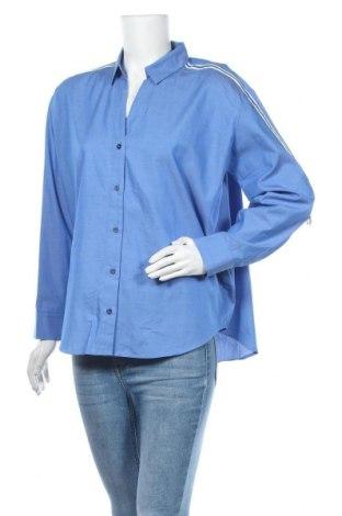 Γυναικείο πουκάμισο Opus, Μέγεθος L, Χρώμα Μπλέ, Βαμβάκι, Τιμή 34,41€