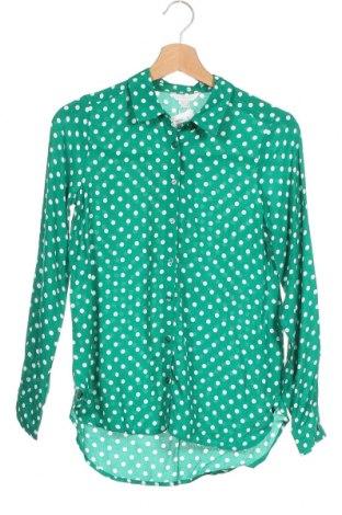 Γυναικείο πουκάμισο Springfield, Μέγεθος XS, Χρώμα Πράσινο, Βισκόζη, Τιμή 20,10€