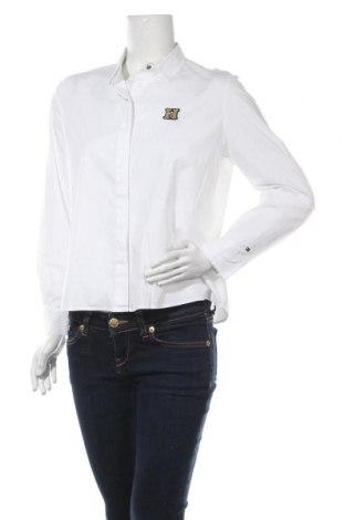Γυναικείο πουκάμισο Tommy Hilfiger, Μέγεθος M, Χρώμα Λευκό, 97% βαμβάκι, 3% ελαστάνη, Τιμή 25,33€