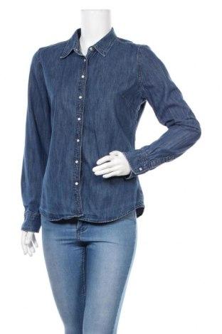 Γυναικείο πουκάμισο Tommy Hilfiger, Μέγεθος L, Χρώμα Μπλέ, Βαμβάκι, Τιμή 24,12€