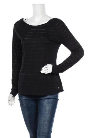 Дамска спортна блуза Active By Tchibo, Размер M, Цвят Черен, 67% полиестер, 33% вискоза, Цена 17,96лв.