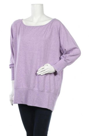 Дамска спортна блуза Active By Tchibo, Размер L, Цвят Лилав, 63% полиестер, 32% вискоза, 5% еластан, Цена 5,67лв.