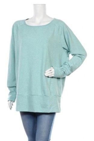 Дамска спортна блуза Active By Tchibo, Размер L, Цвят Син, 63% полиестер, 32% вискоза, 5% еластан, Цена 14,18лв.