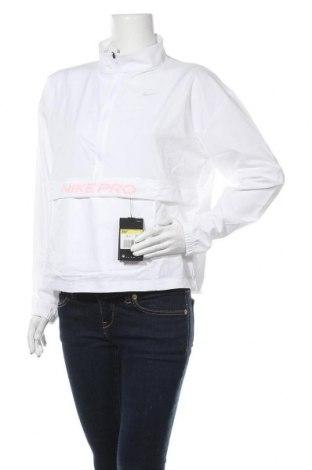 Γυναικεία αθλητική μπλούζα Nike, Μέγεθος S, Χρώμα Λευκό, 84% πολυεστέρας, 16% ελαστάνη, Τιμή 42,14€