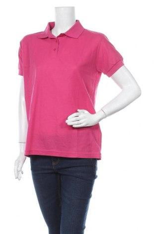 Дамска тениска, Размер L, Цвят Розов, 65% полиестер, 35% памук, Цена 4,73лв.