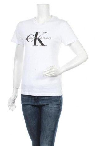 Γυναικείο t-shirt Calvin Klein Jeans, Μέγεθος S, Χρώμα Λευκό, Βαμβάκι, Τιμή 24,74€