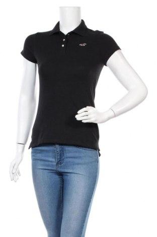 Γυναικείο t-shirt Hollister, Μέγεθος S, Χρώμα Μαύρο, 96% βαμβάκι, 4% ελαστάνη, Τιμή 9,74€