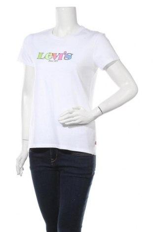 Дамска тениска Levi's, Размер S, Цвят Бял, 100% памук, Цена 26,55лв.