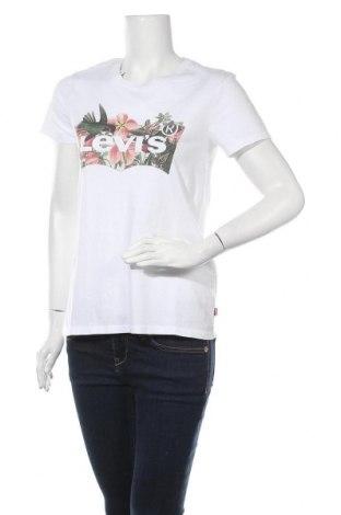 Γυναικείο t-shirt Levi's, Μέγεθος S, Χρώμα Λευκό, Βαμβάκι, Τιμή 22,20€