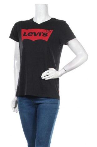 Γυναικείο t-shirt Levi's, Μέγεθος M, Χρώμα Μαύρο, Βαμβάκι, Τιμή 18,56€