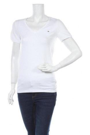 Γυναικείο t-shirt Tommy Hilfiger, Μέγεθος S, Χρώμα Λευκό, 95% βαμβάκι, 5% ελαστάνη, Τιμή 30,54€