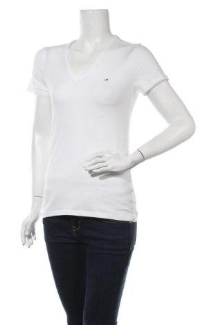 Γυναικείο t-shirt Tommy Hilfiger, Μέγεθος S, Χρώμα Λευκό, 96% βαμβάκι, 4% ελαστάνη, Τιμή 25,59€