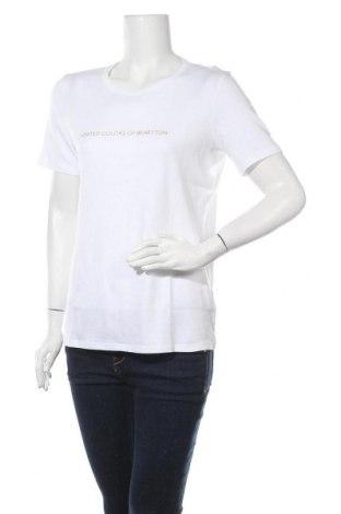 Γυναικείο t-shirt United Colors Of Benetton, Μέγεθος XL, Χρώμα Λευκό, Βαμβάκι, Τιμή 15,08€