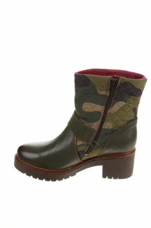 Дамски боти Desigual, Размер 38, Цвят Зелен, Естествена кожа, текстил, Цена 189,00лв.