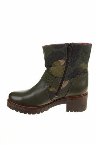 Дамски боти Desigual, Размер 41, Цвят Зелен, Естествена кожа, текстил, Цена 189,00лв.