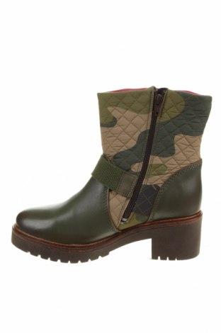 Дамски боти Desigual, Размер 39, Цвят Зелен, Естествена кожа, текстил, Цена 189,00лв.