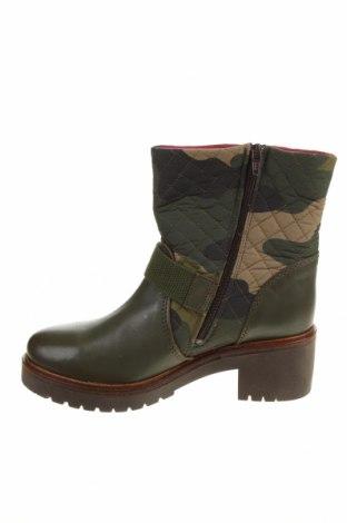 Дамски боти Desigual, Размер 40, Цвят Зелен, Естествена кожа, текстил, Цена 189,00лв.