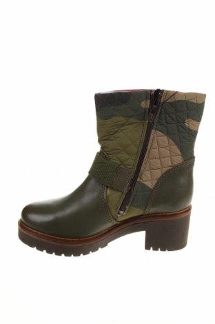 Дамски боти Desigual, Размер 36, Цвят Зелен, Естествена кожа, текстил, Цена 189,00лв.