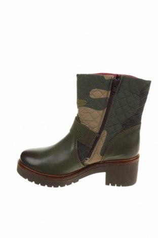 Дамски боти Desigual, Размер 37, Цвят Зелен, Естествена кожа, текстил, Цена 189,00лв.