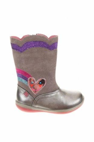Dětské boty  Agatha Ruiz De La Prada, Velikost 24, Barva Šedá, Přírodní velur , pravá kůže, textile , Cena  454,00Kč