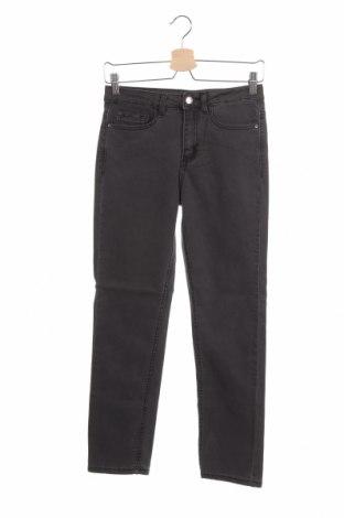 Дамски дънки, Размер XS, Цвят Сив, 75% памук, 23% полиестер, 2% еластан, Цена 18,32лв.