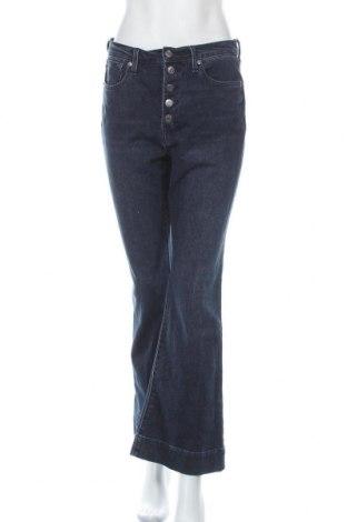 Дамски дънки Gap, Размер L, Цвят Син, 69% памук, 29% полиестер, 2% еластан, Цена 26,66лв.