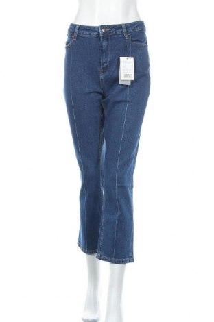 Дамски дънки Kiomi, Размер XL, Цвят Син, 99% памук, 1% еластан, Цена 40,02лв.