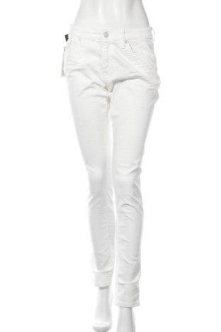 Дамски дънки Mavi, Размер M, Цвят Бял, 98% памук, 2% еластан, Цена 20,44лв.