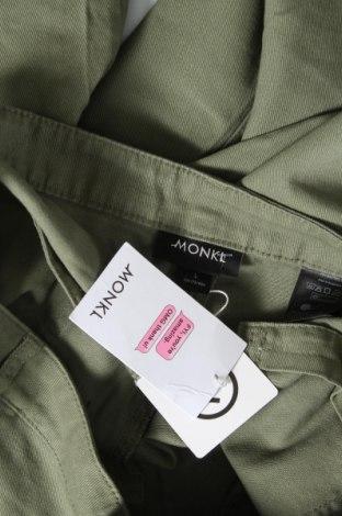 Дамски дънки Monki, Размер L, Цвят Зелен, Памук, Цена 19,16лв.