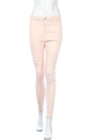 Дамски дънки New Look, Размер L, Цвят Розов, 98% памук, 2% еластан, Цена 25,84лв.