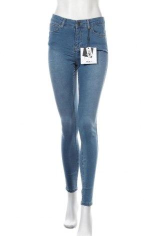 Дамски дънки Object, Размер M, Цвят Син, 66% памук, 32% полиестер, 2% еластан, Цена 22,77лв.