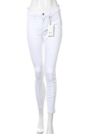 Дамски дънки Object, Размер M, Цвят Бял, 78% памук, 19% полиестер, 3% еластан, Цена 15,32лв.